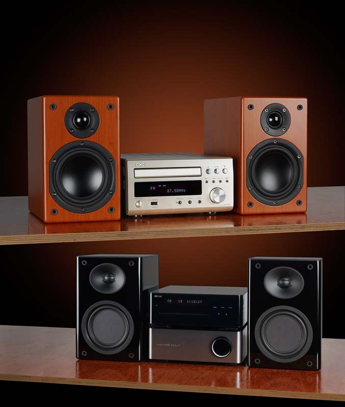 test minianlagen denon d m38 sharp xl hf300. Black Bedroom Furniture Sets. Home Design Ideas