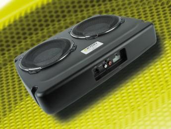 test car hifi subwoofer aktiv crunch gp800 sehr gut. Black Bedroom Furniture Sets. Home Design Ideas