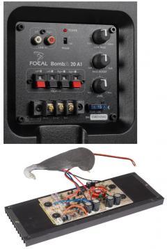 test car hifi subwoofer aktiv focal car bomba 20a1. Black Bedroom Furniture Sets. Home Design Ideas