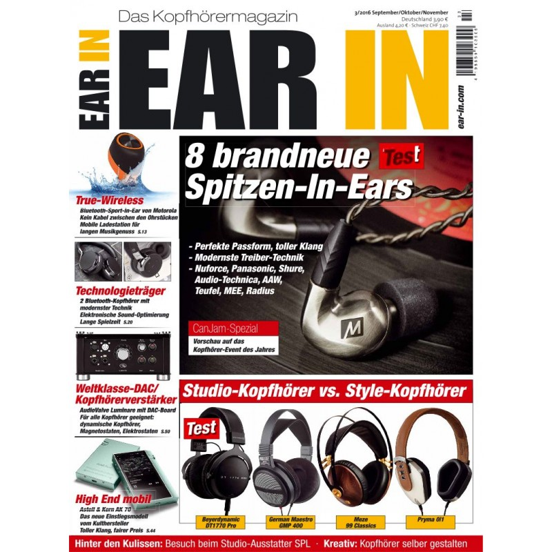 8 brandneue Spitzen In-Ears (print)