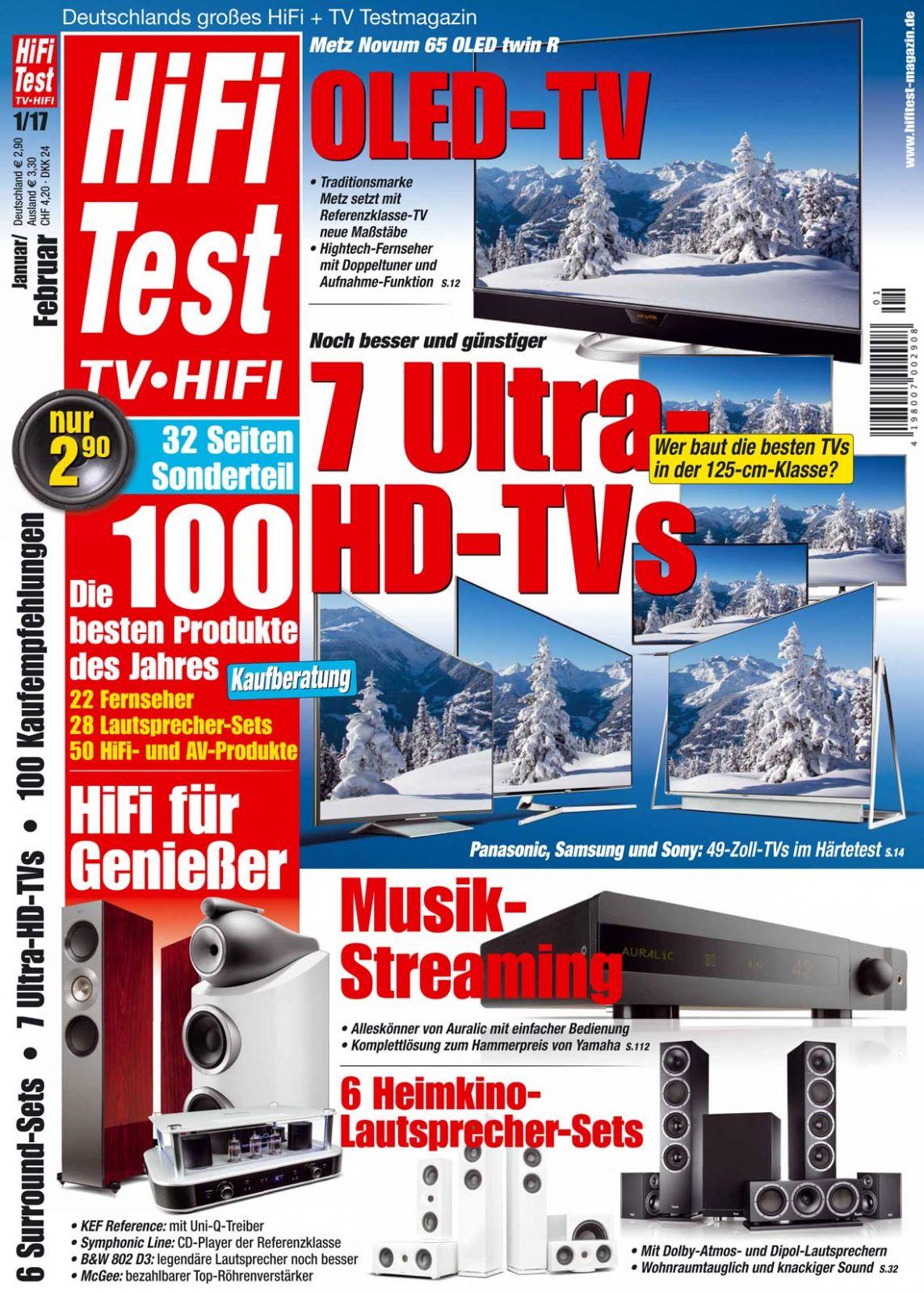 hifi test tv video 1 2017 print. Black Bedroom Furniture Sets. Home Design Ideas