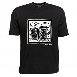 Pop Art T-Shirt von Art W. Orker, Motiv Lautsprecher