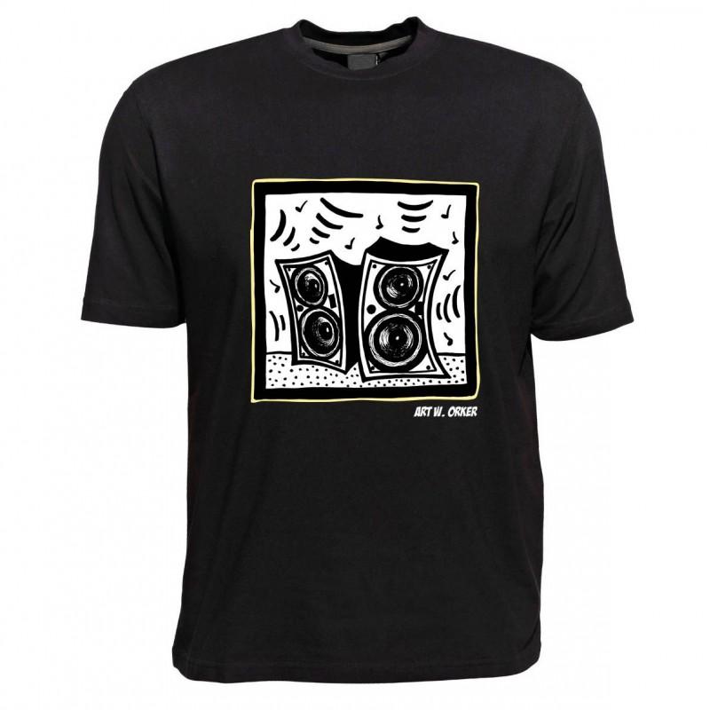 T-Shirt - Motiv Lautsprecher