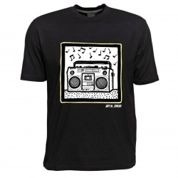 Pop Art T-Shirt von Art W. Orker, Motiv Ghettoblaster