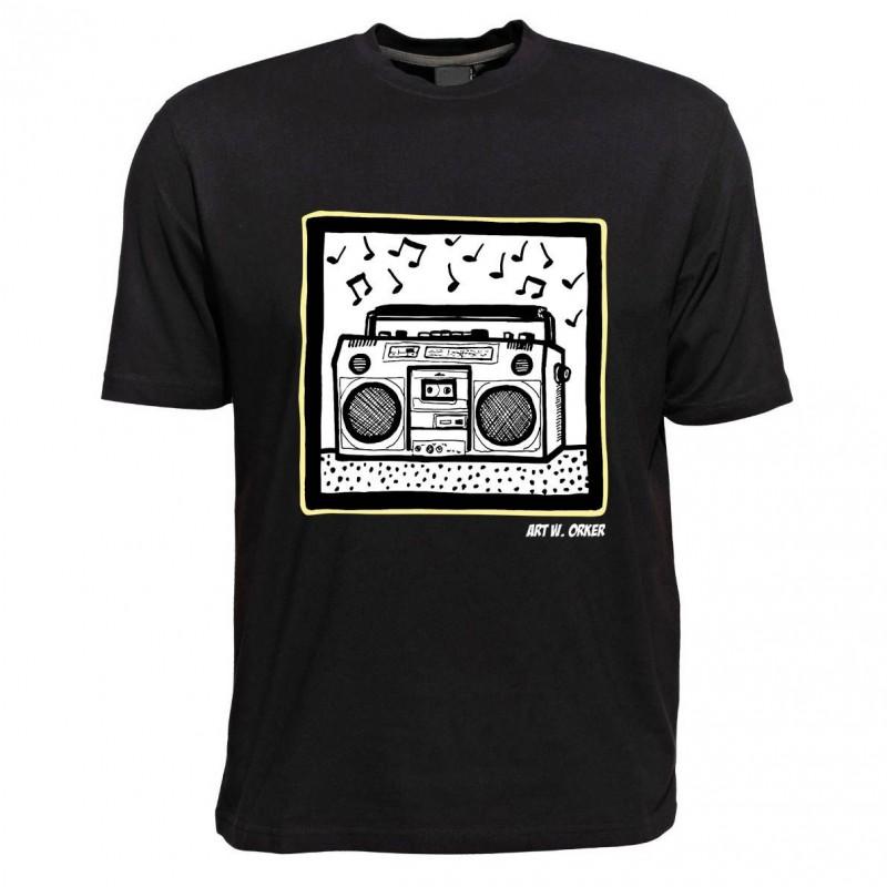 T-Shirt - Motiv Ghettoblaster