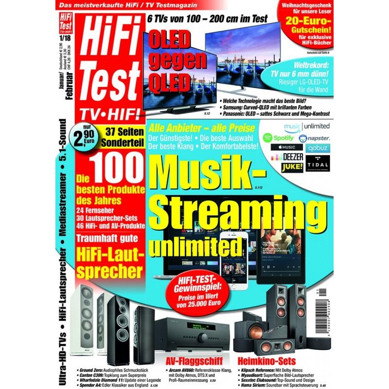 HIFI TEST Ausgabe 1/2018 (print)