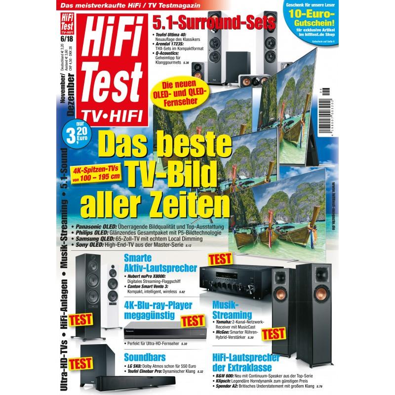 HIFI TEST TV HIFI Ausgabe 6/2018 (print)