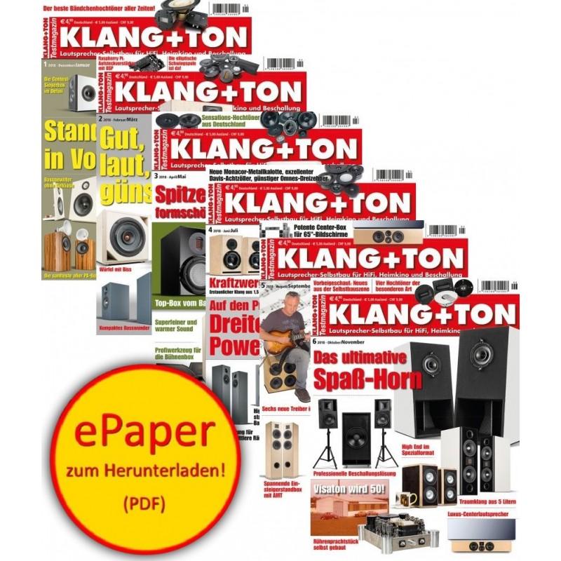 Klang + Ton - Heftarchiv 2018 (ePaper)