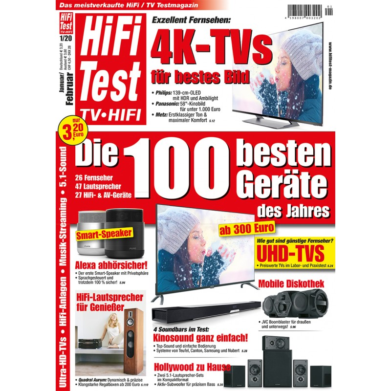 HIFI TEST Ausgabe 1/2020 (print)
