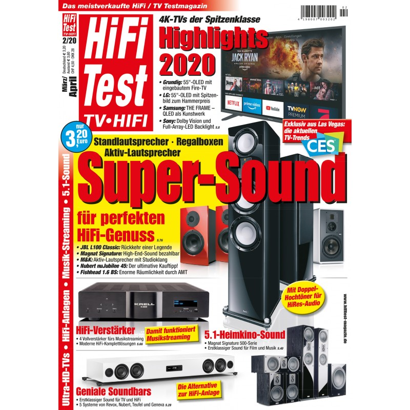 HIFI TEST Ausgabe 2/2020 (print)