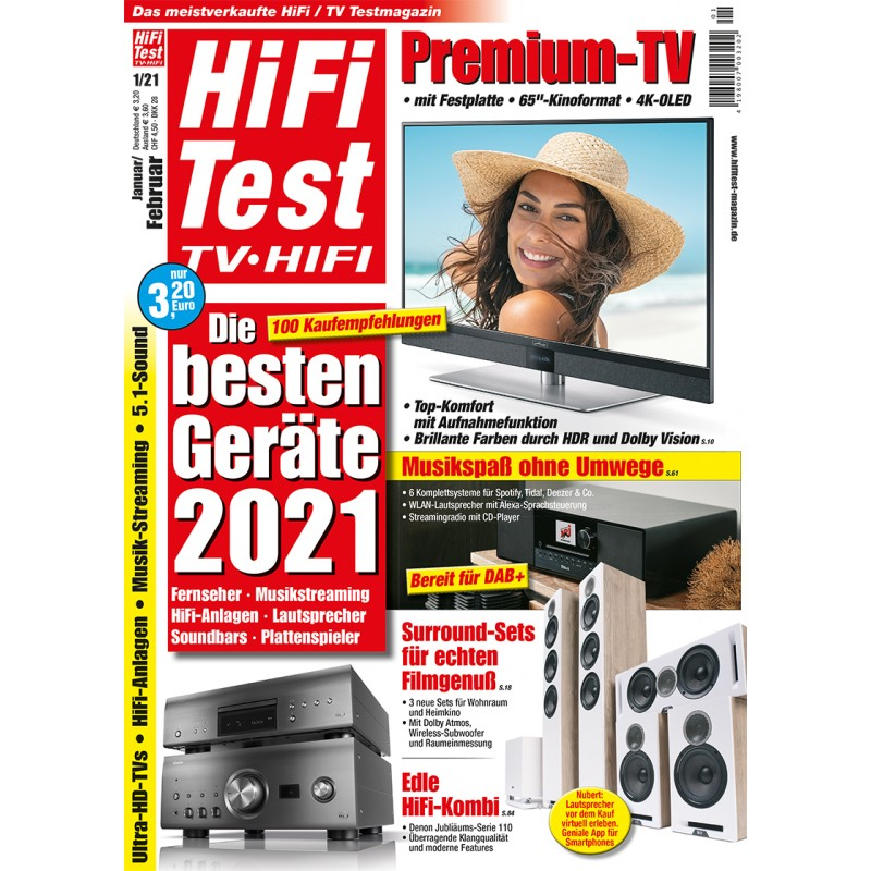 HIFI TEST Ausgabe 1/2021 (epaper)