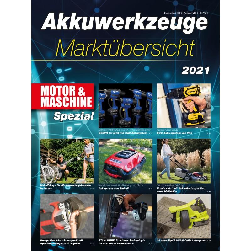 Akkuwerkzeuge Marktübersicht 2021 (epaper)